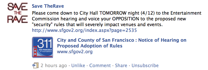 Save the Rave: Come down to City Hall TOMORROW night