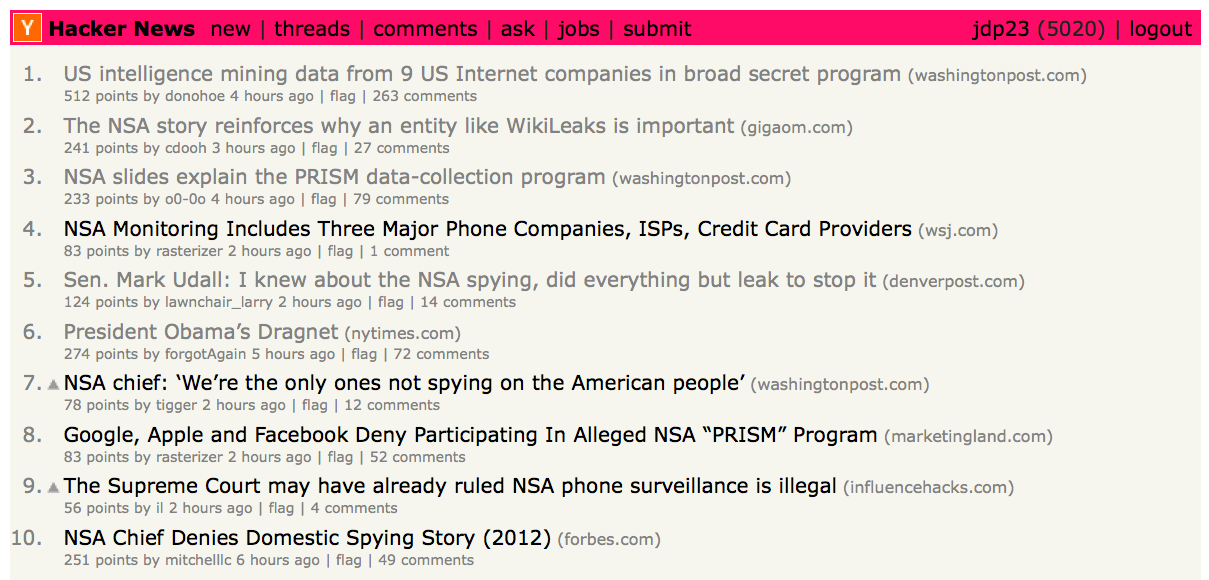 10 stories about NSA spying