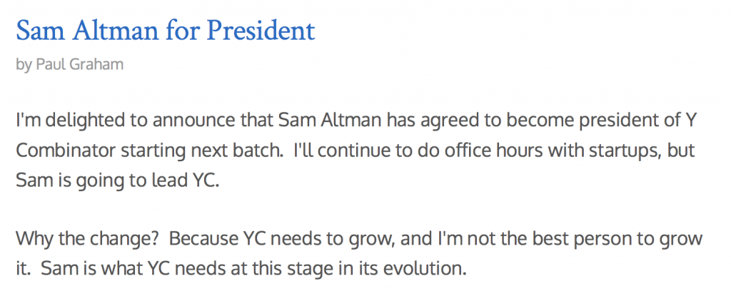 Sam Altman for President